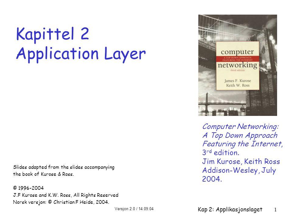 Kapittel 2 Application Layer