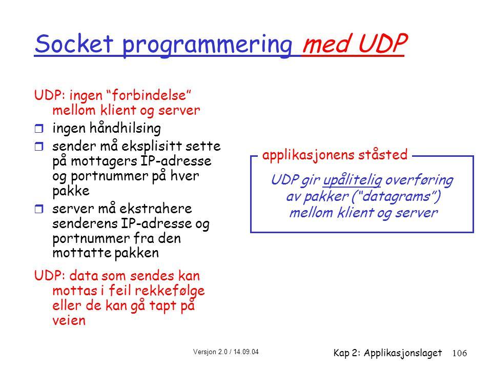 Socket programmering med UDP