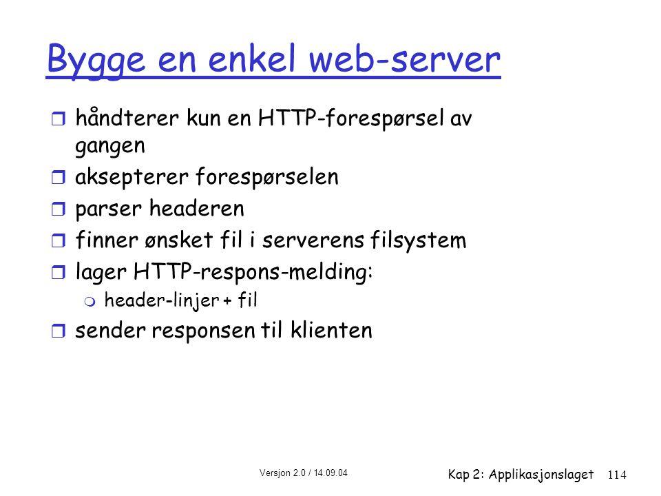 Bygge en enkel web-server