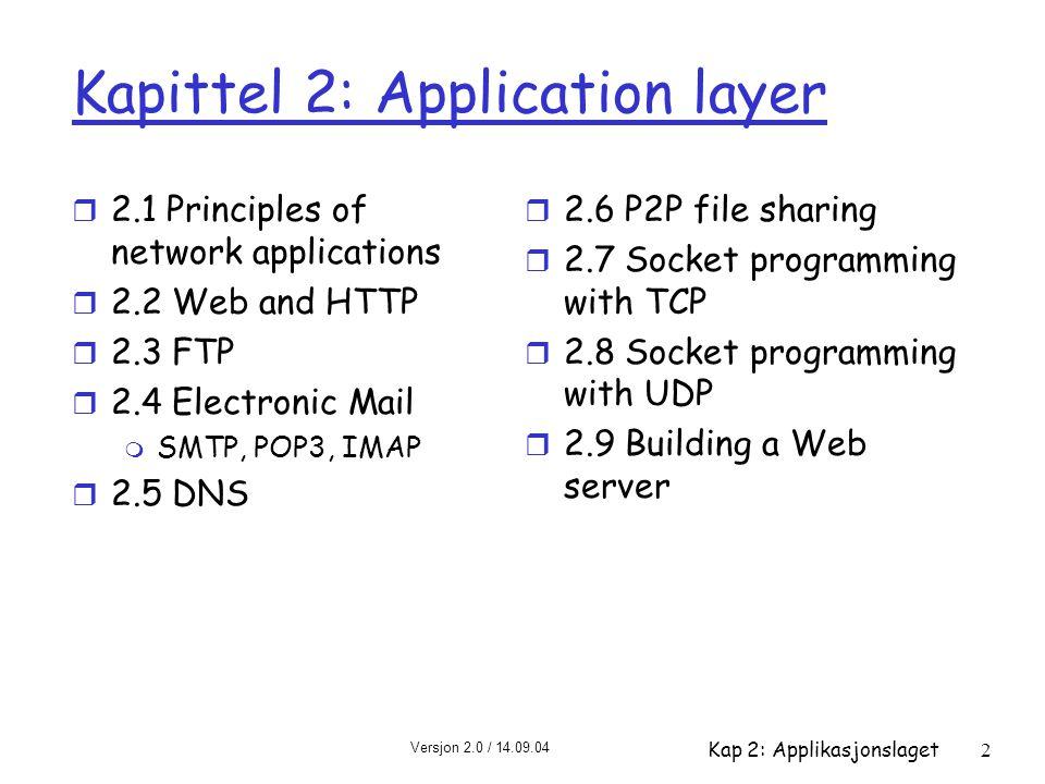 Kapittel 2: Application layer