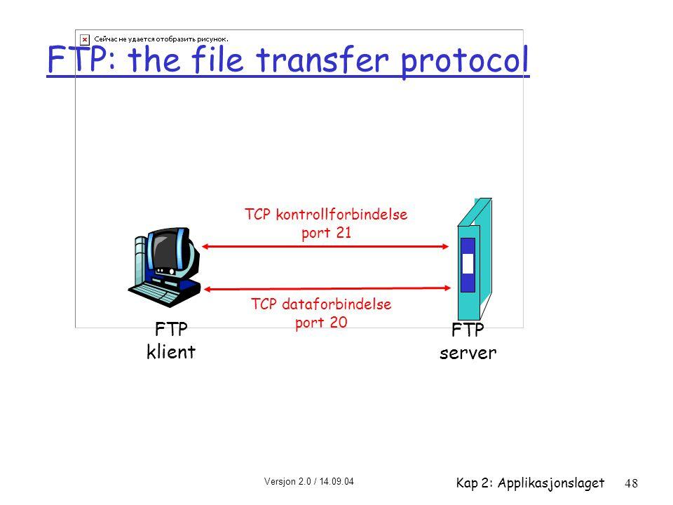 FTP: the file transfer protocol