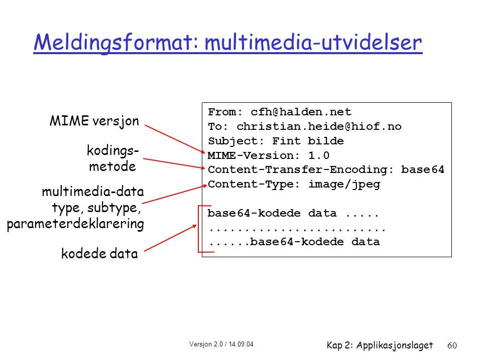 Meldingsformat: multimedia-utvidelser
