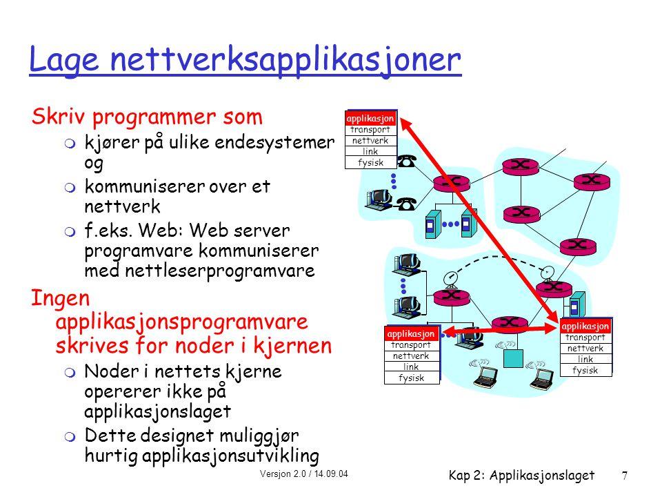 Lage nettverksapplikasjoner