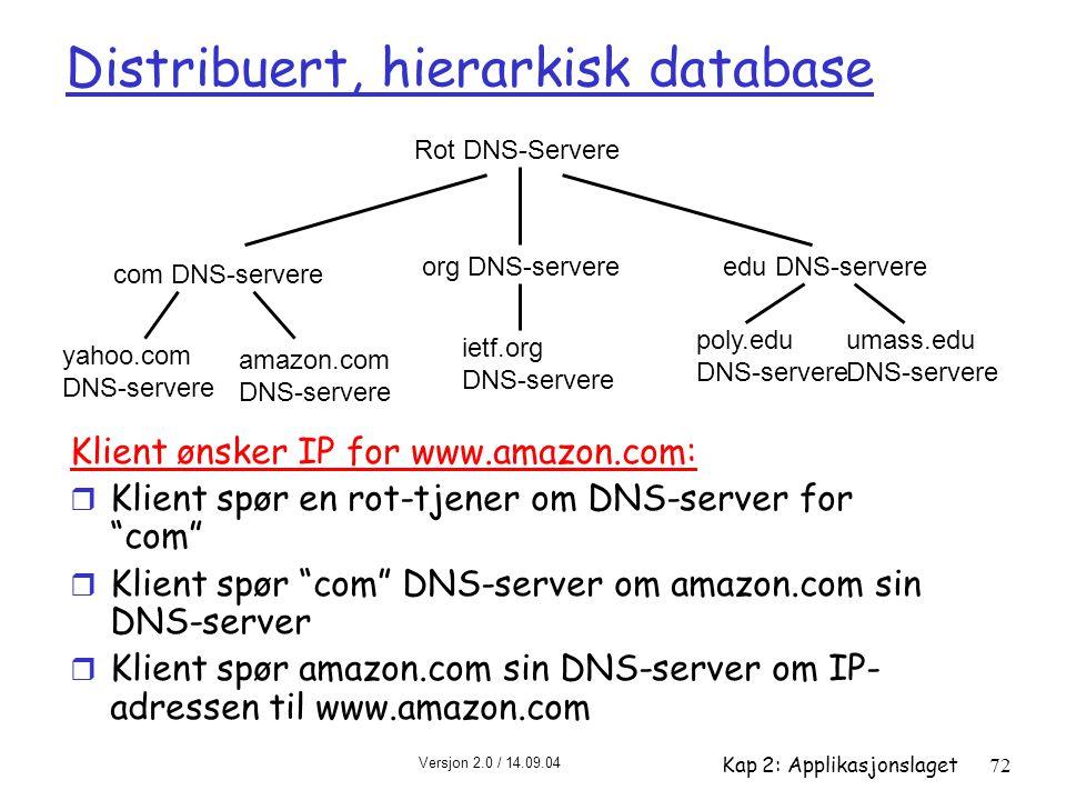 Distribuert, hierarkisk database