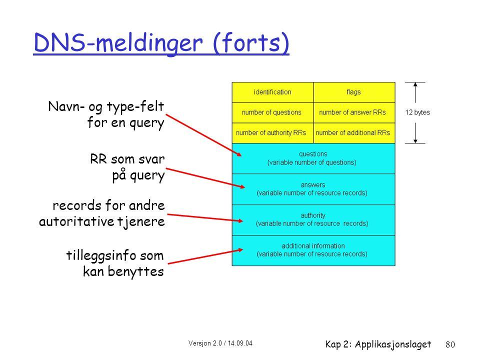 DNS-meldinger (forts)