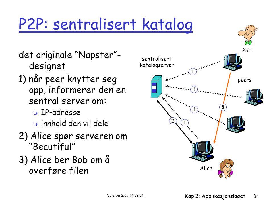 P2P: sentralisert katalog