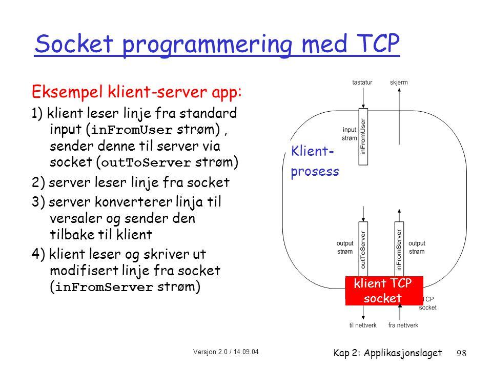 Socket programmering med TCP