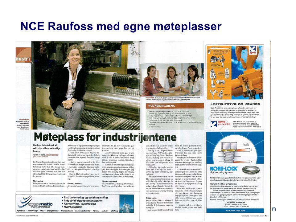 NCE Raufoss med egne møteplasser
