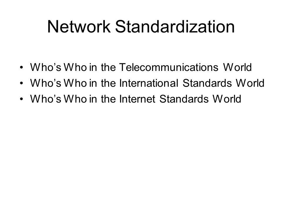Network Standardization
