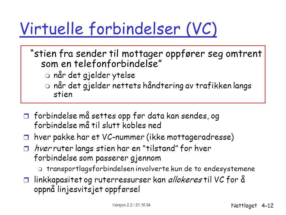 Virtuelle forbindelser (VC)