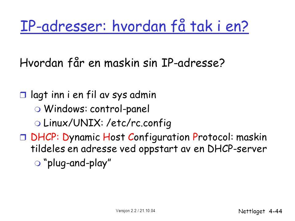 IP-adresser: hvordan få tak i en