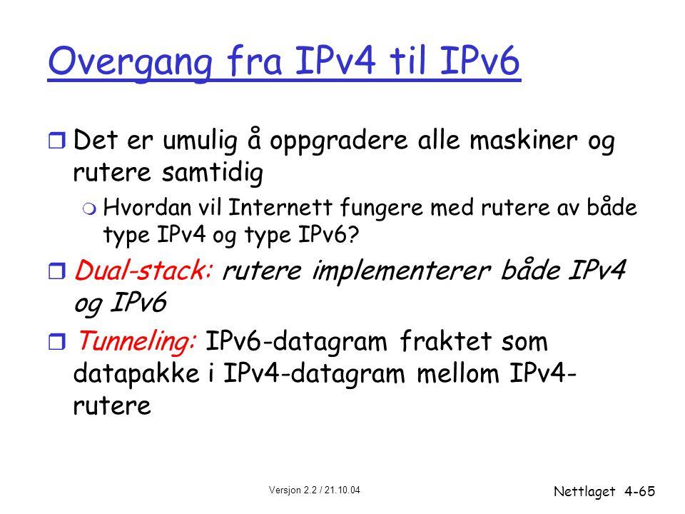 Overgang fra IPv4 til IPv6