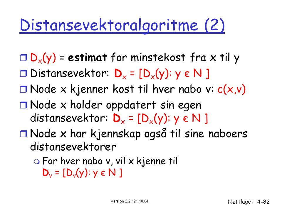 Distansevektoralgoritme (2)