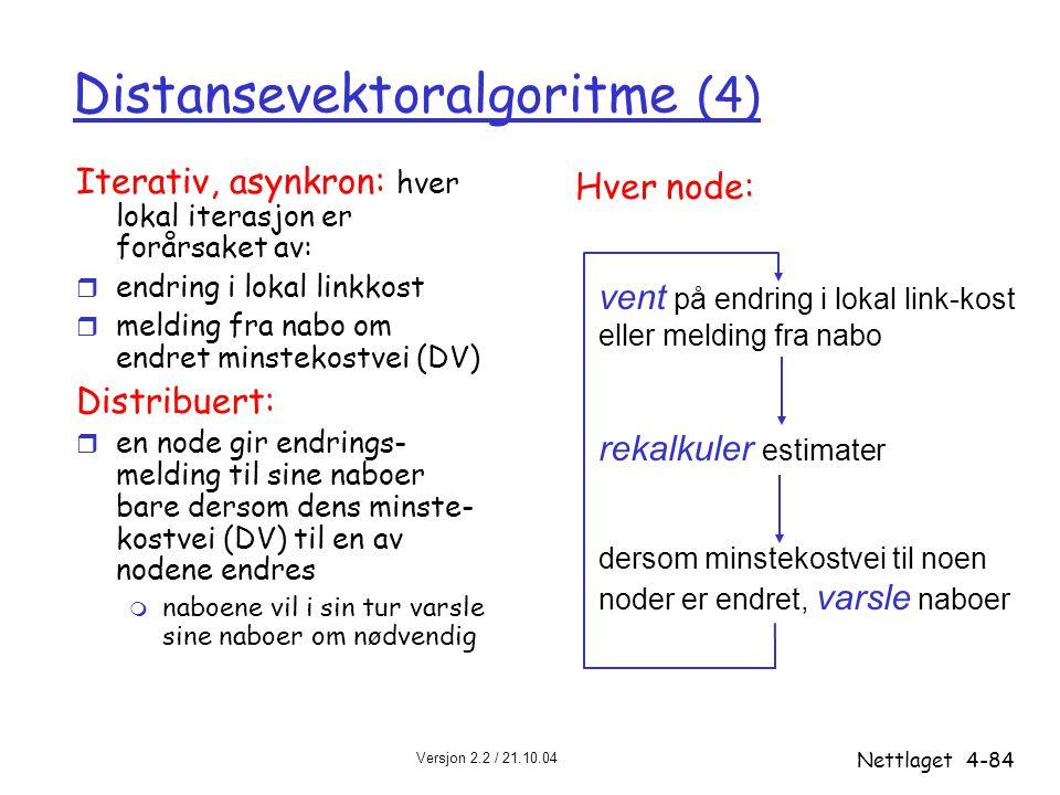 Distansevektoralgoritme (4)