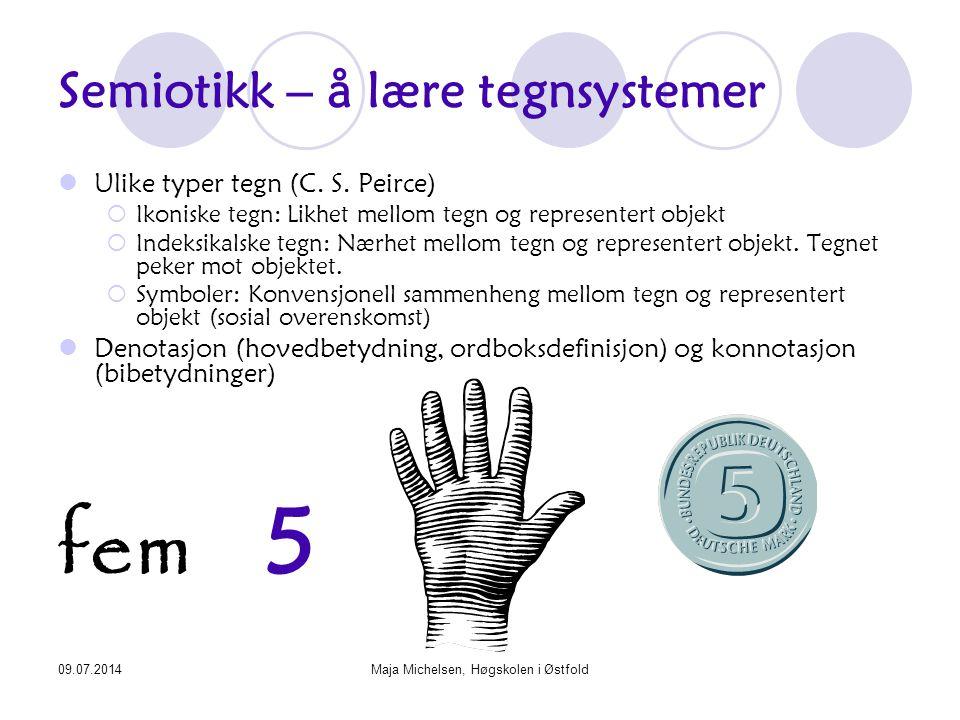 Semiotikk – å lære tegnsystemer