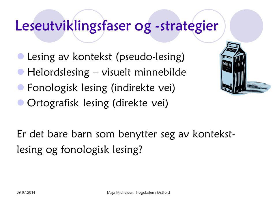 Leseutviklingsfaser og -strategier