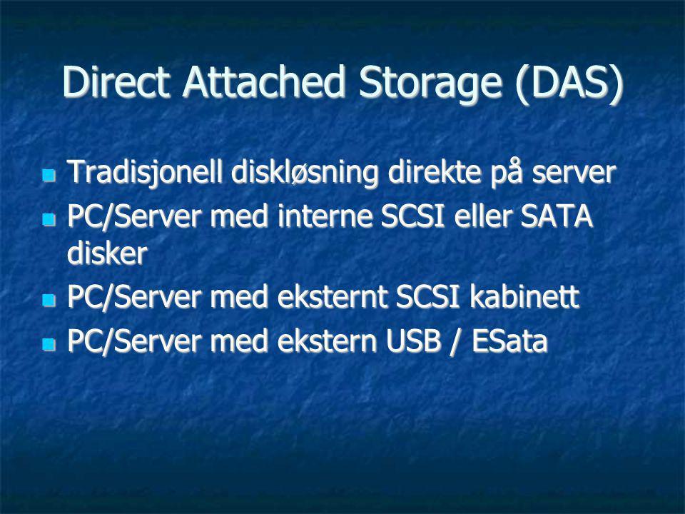 Direct Attached Storage (DAS)