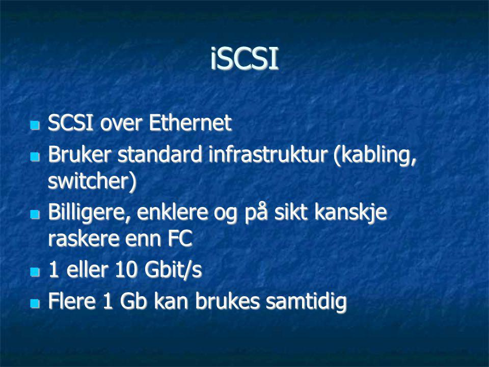iSCSI SCSI over Ethernet