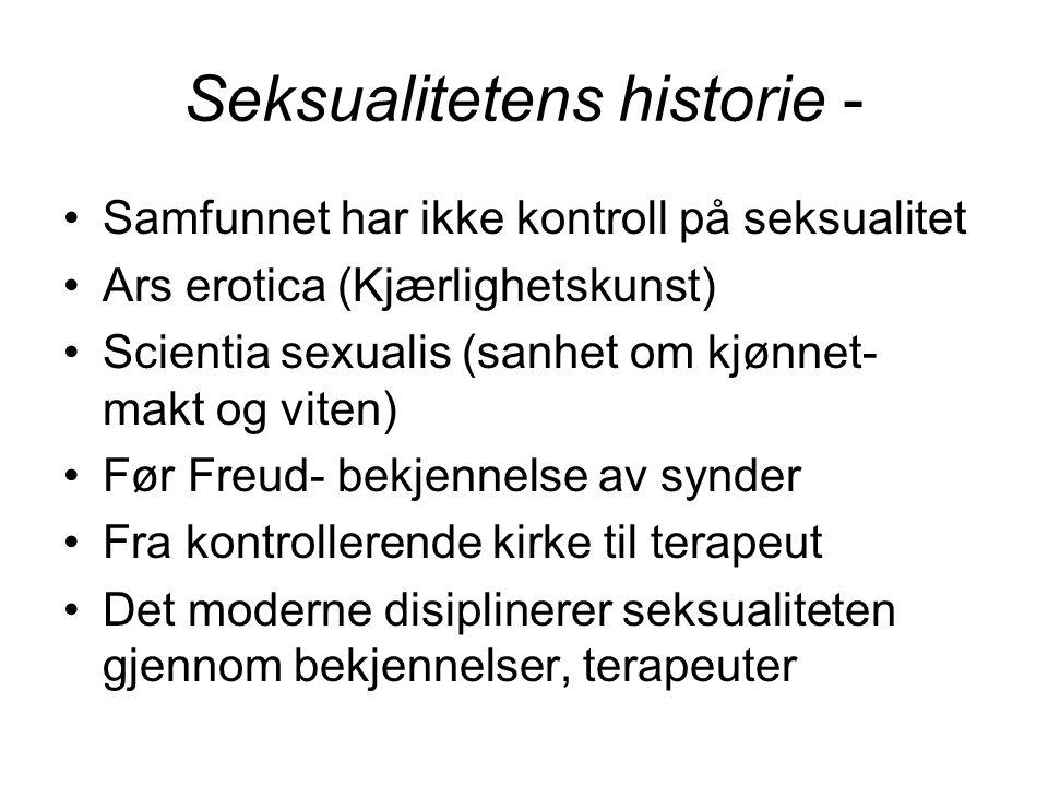 Seksualitetens historie -
