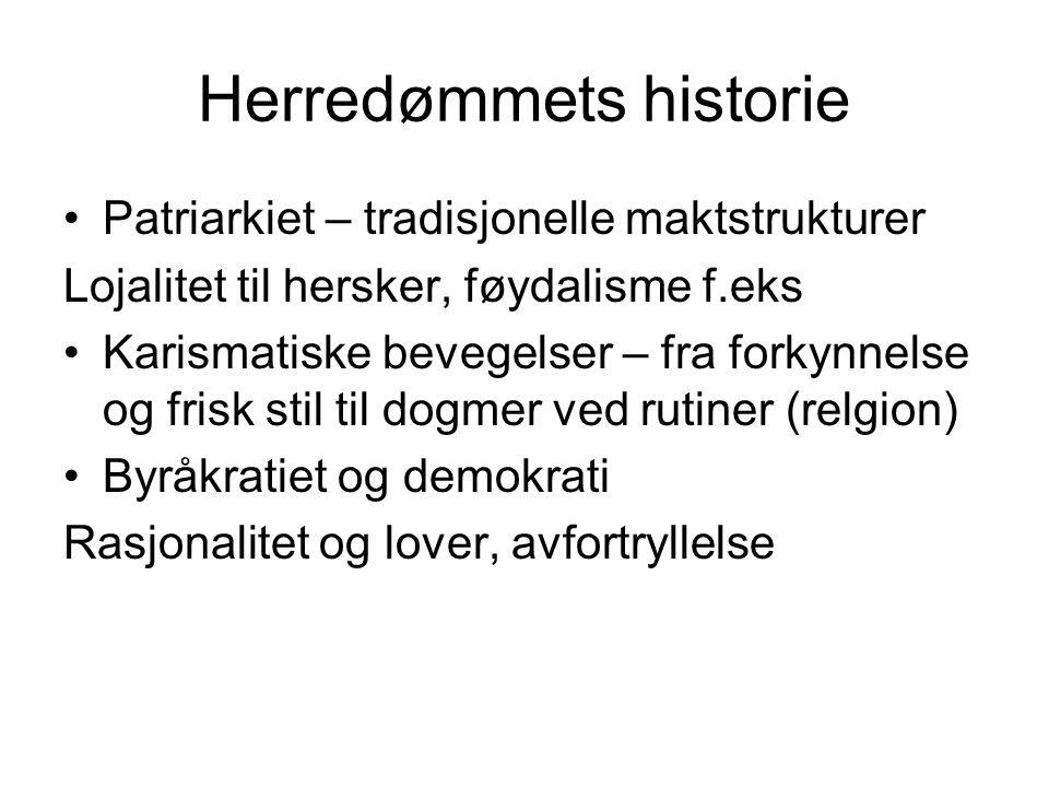 Herredømmets historie