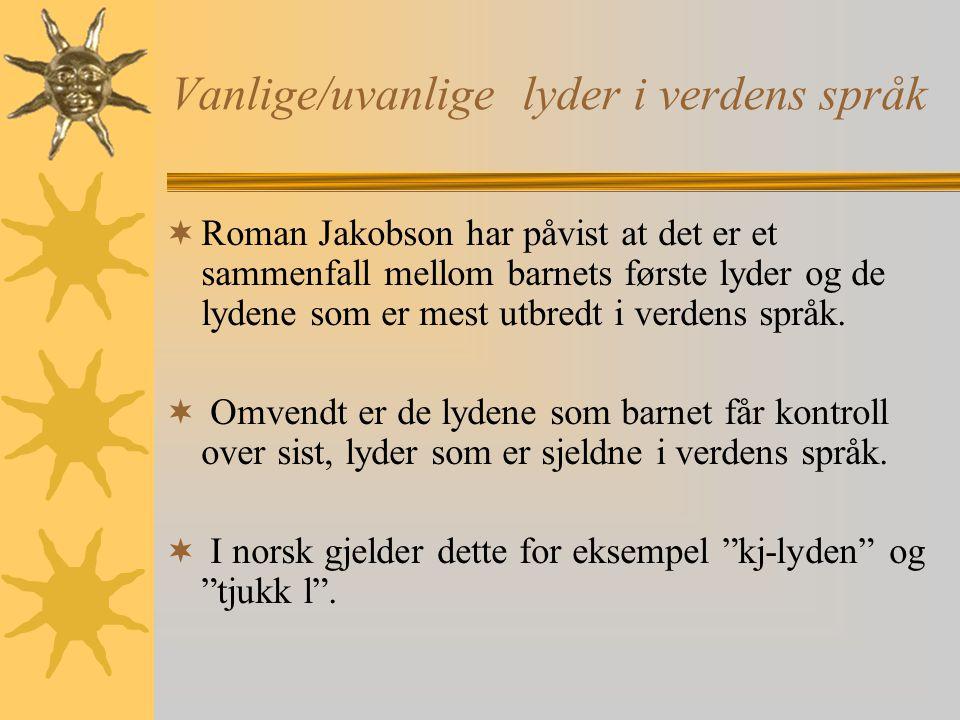 Vanlige/uvanlige lyder i verdens språk