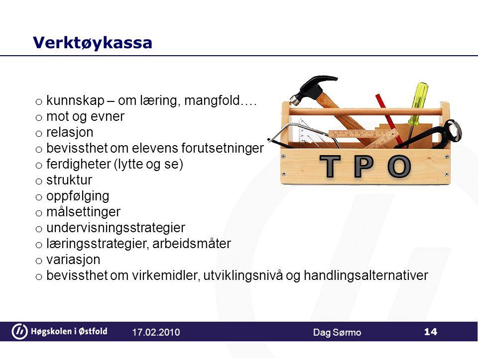 T P O Verktøykassa kunnskap – om læring, mangfold…. mot og evner