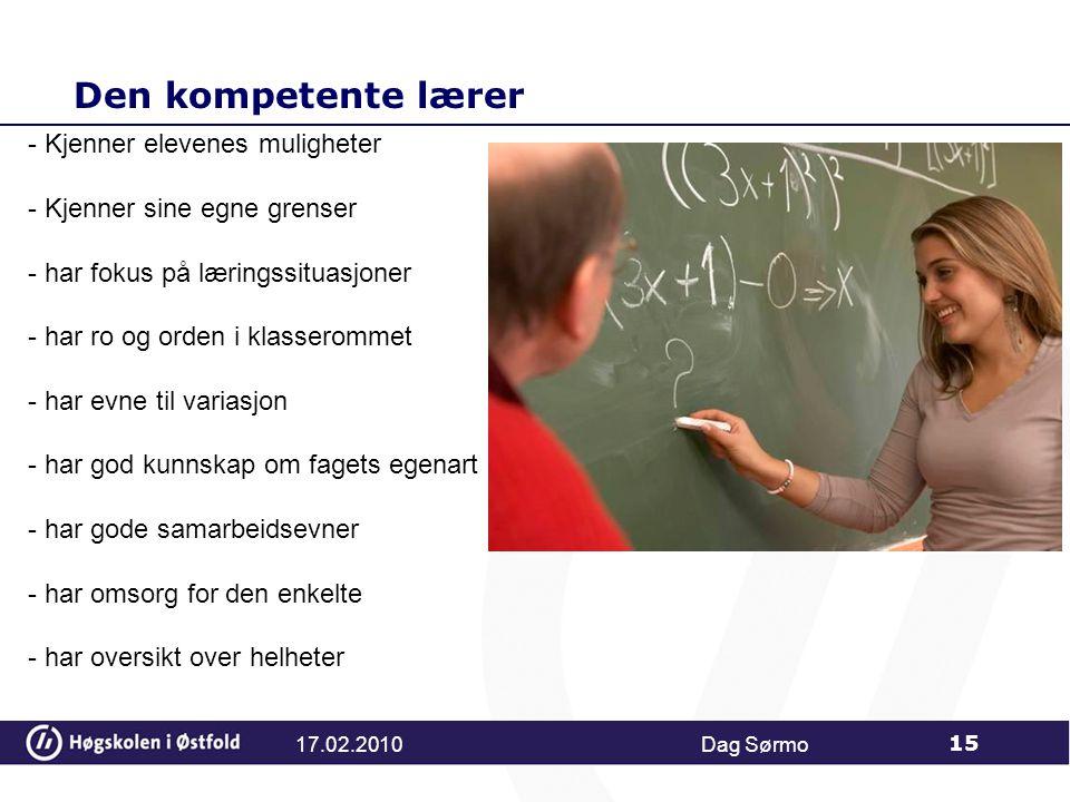 Den kompetente lærer Kjenner elevenes muligheter