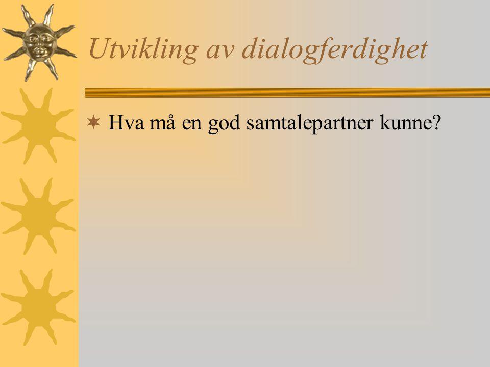 Utvikling av dialogferdighet