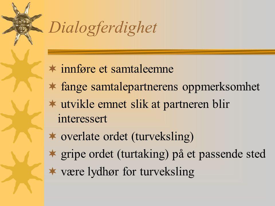 Dialogferdighet innføre et samtaleemne