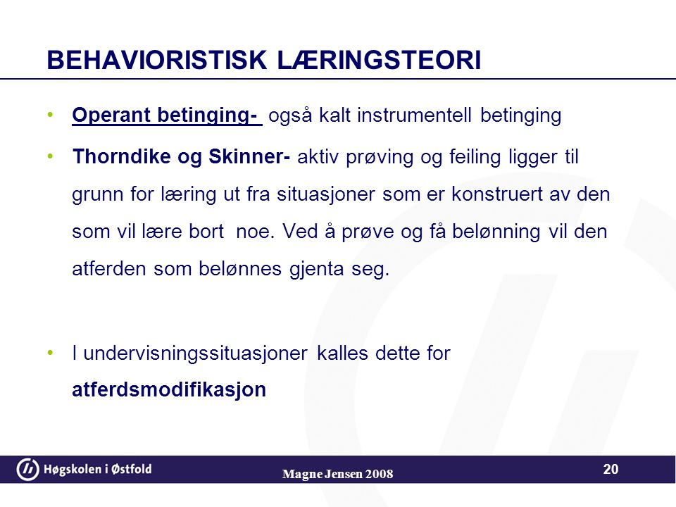 Behavioristisk læringsteori
