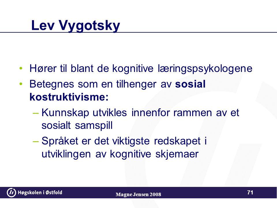 Lev Vygotsky Hører til blant de kognitive læringspsykologene