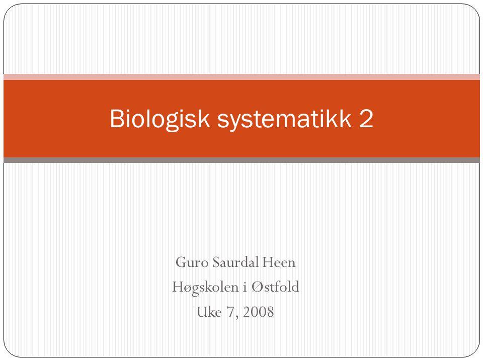 Biologisk systematikk 2