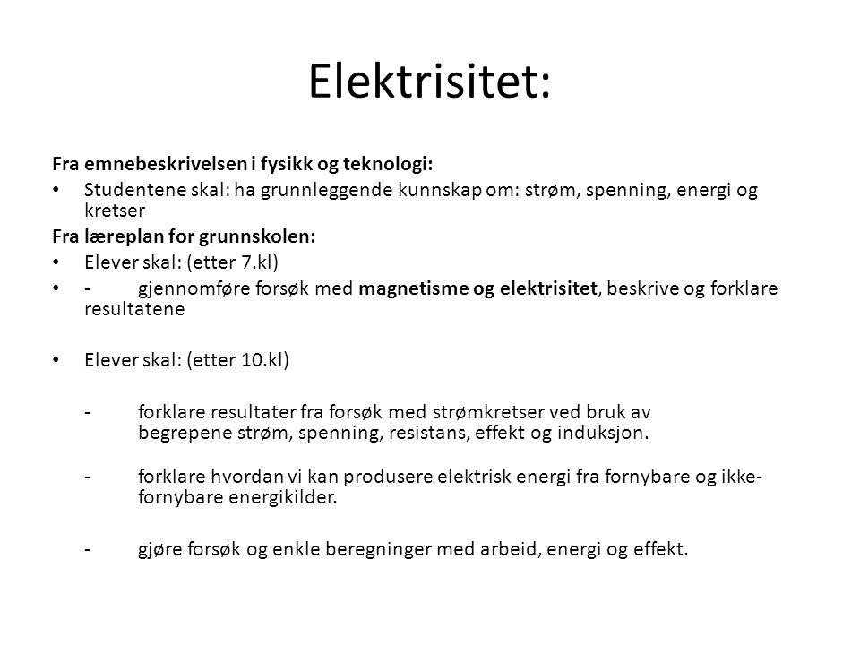 Fysikk og teknologi - Elektrisitet