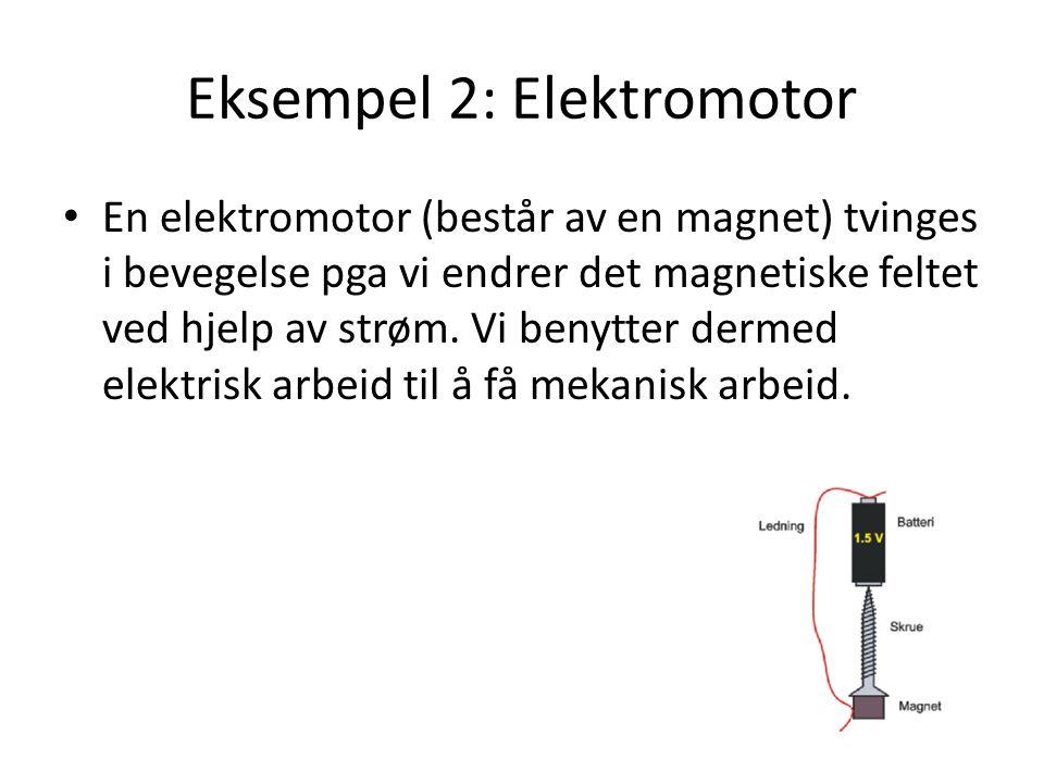 Eksempel 2: Elektromotor