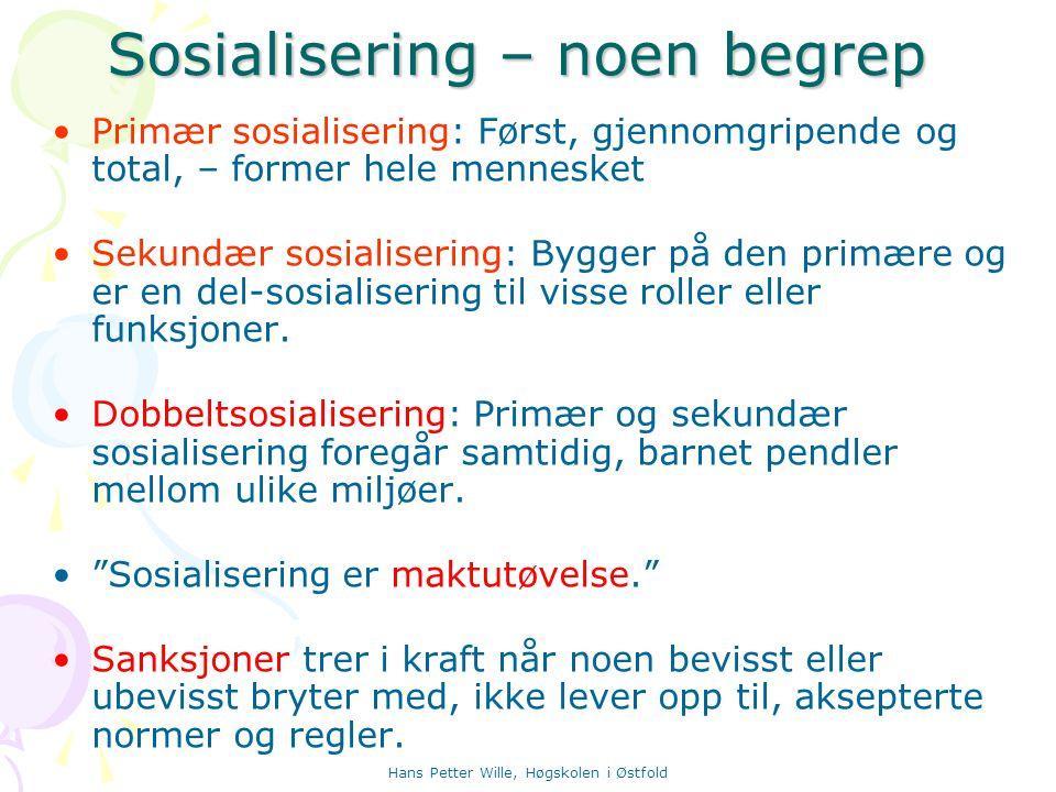 Sosialisering – noen begrep