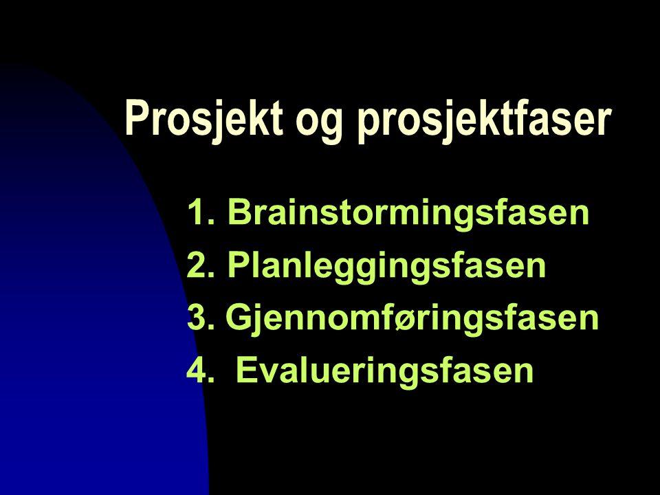 Prosjekt og prosjektfaser