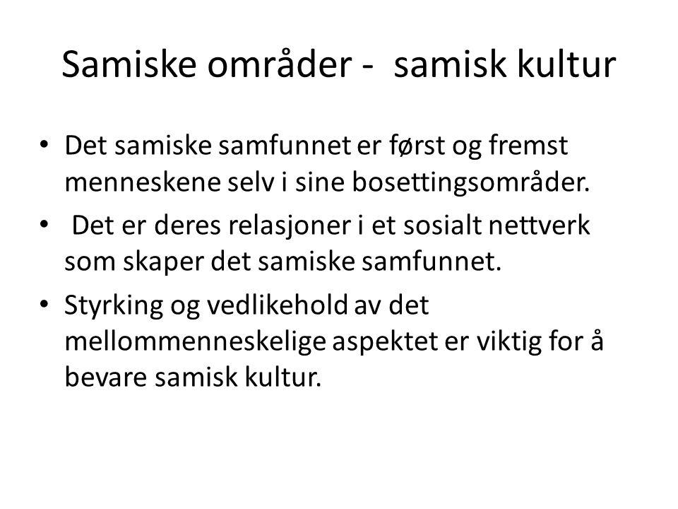Samiske områder - samisk kultur