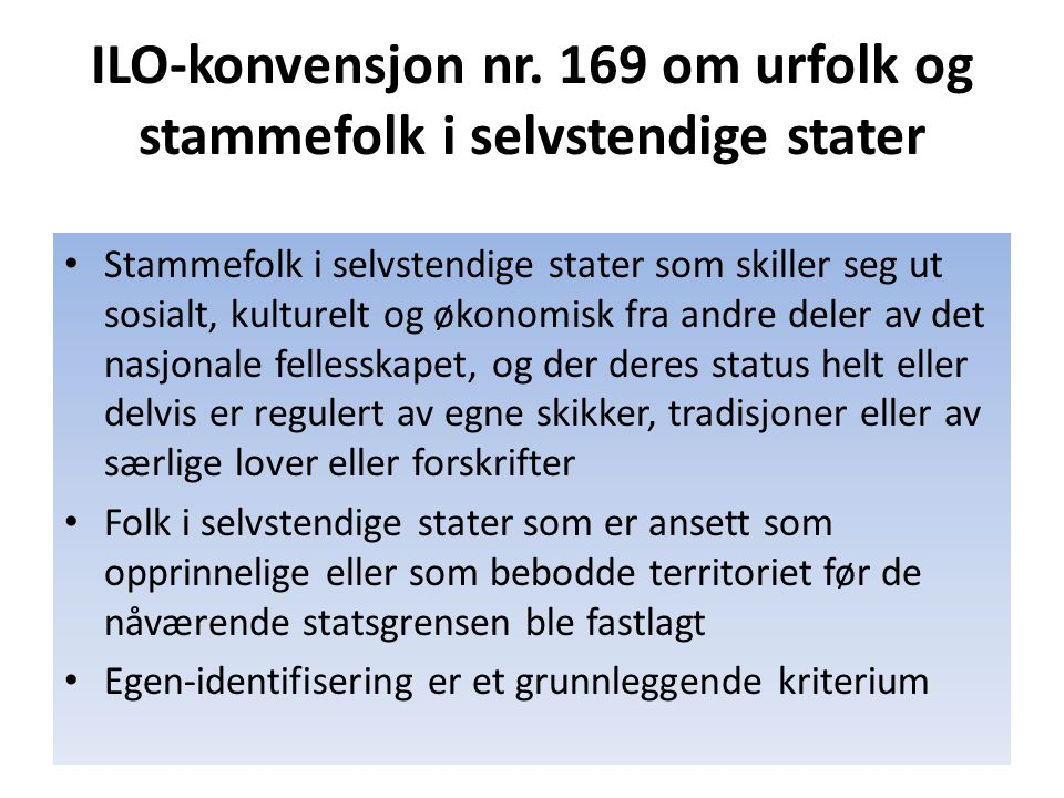 ILO‑konvensjon nr. 169 om urfolk og stammefolk i selvstendige stater