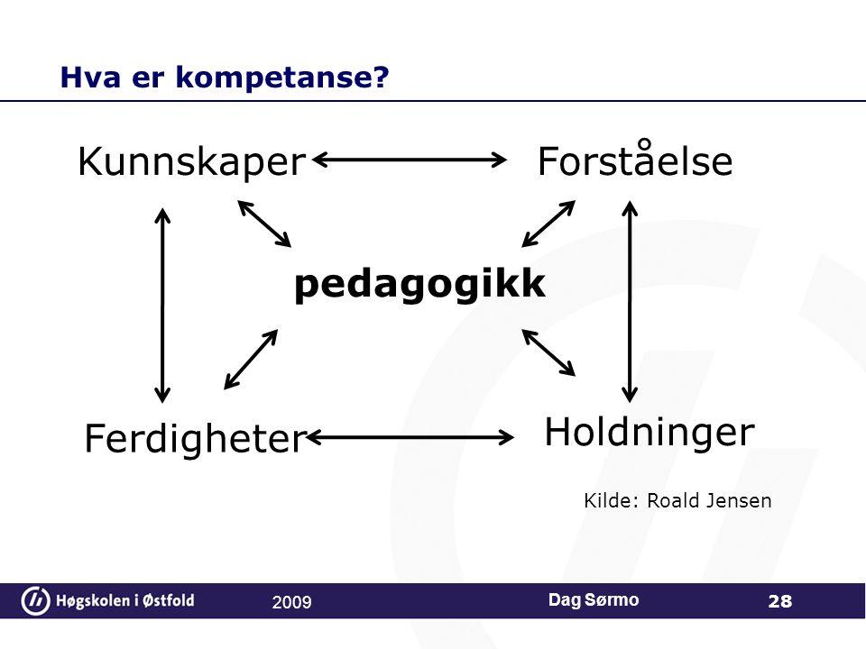 Kunnskaper Forståelse pedagogikk Holdninger Ferdigheter