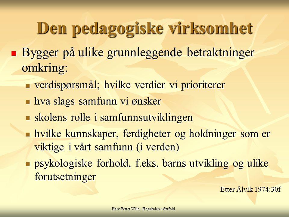 Den pedagogiske virksomhet