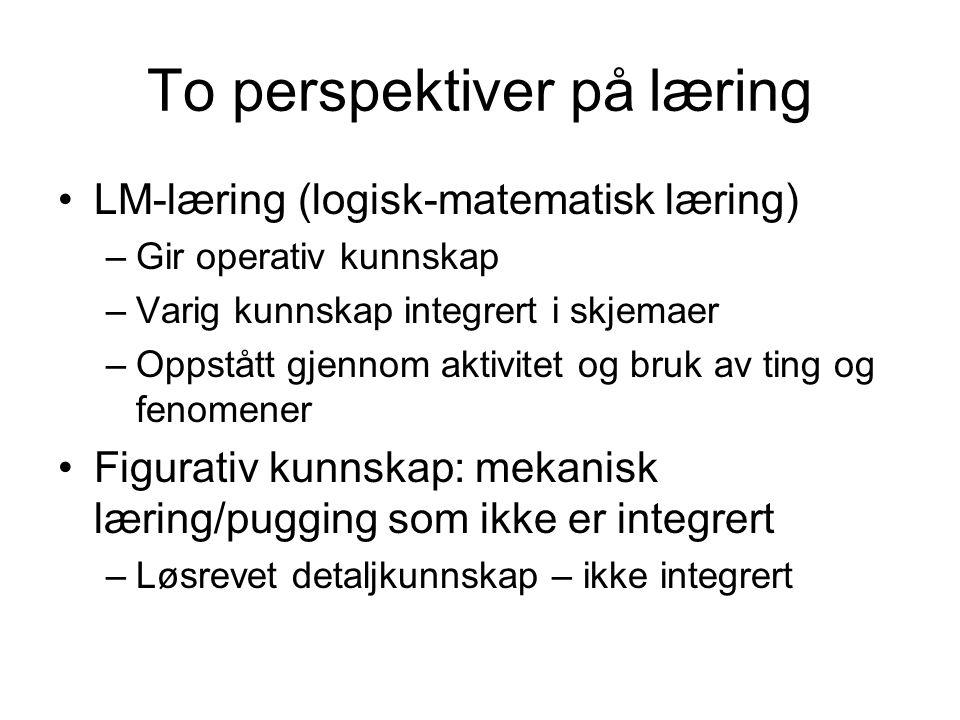 To perspektiver på læring