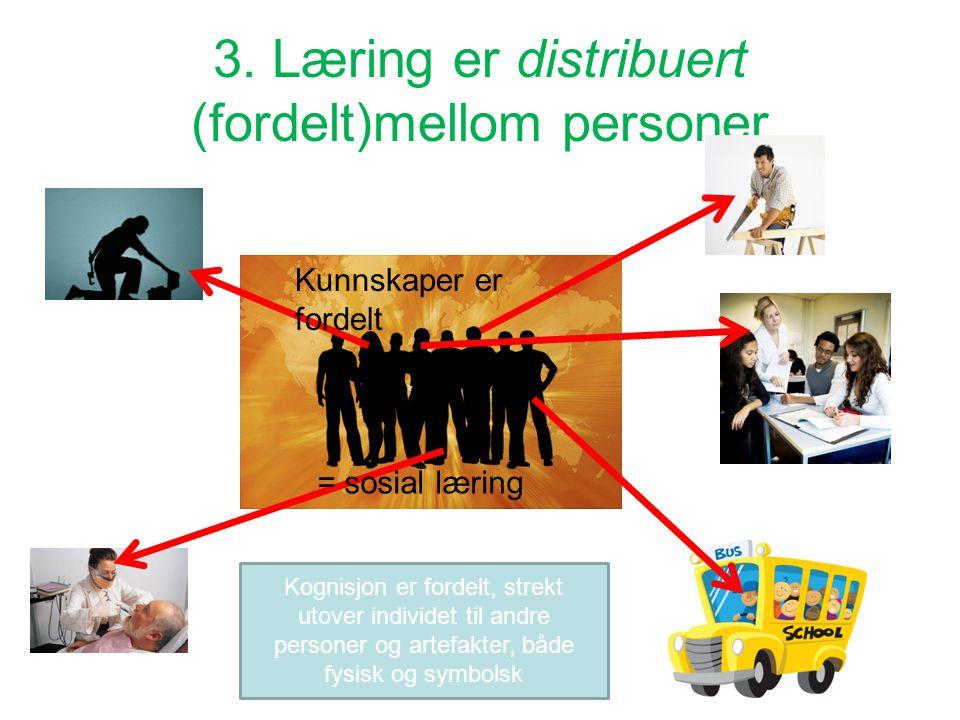 3. Læring er distribuert (fordelt)mellom personer