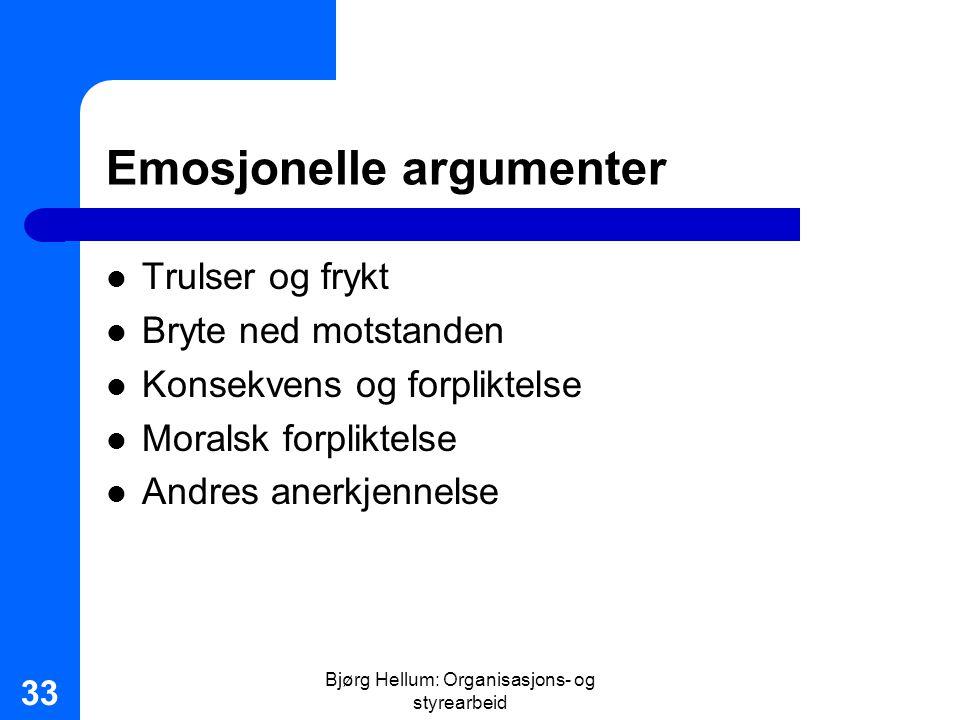Emosjonelle argumenter