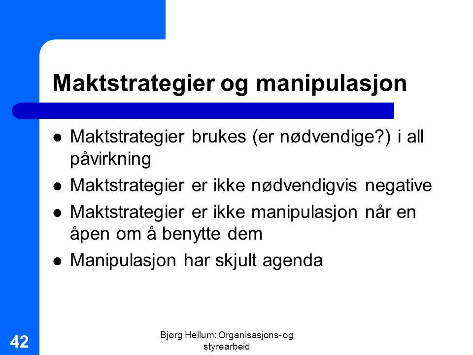 Maktstrategier og manipulasjon