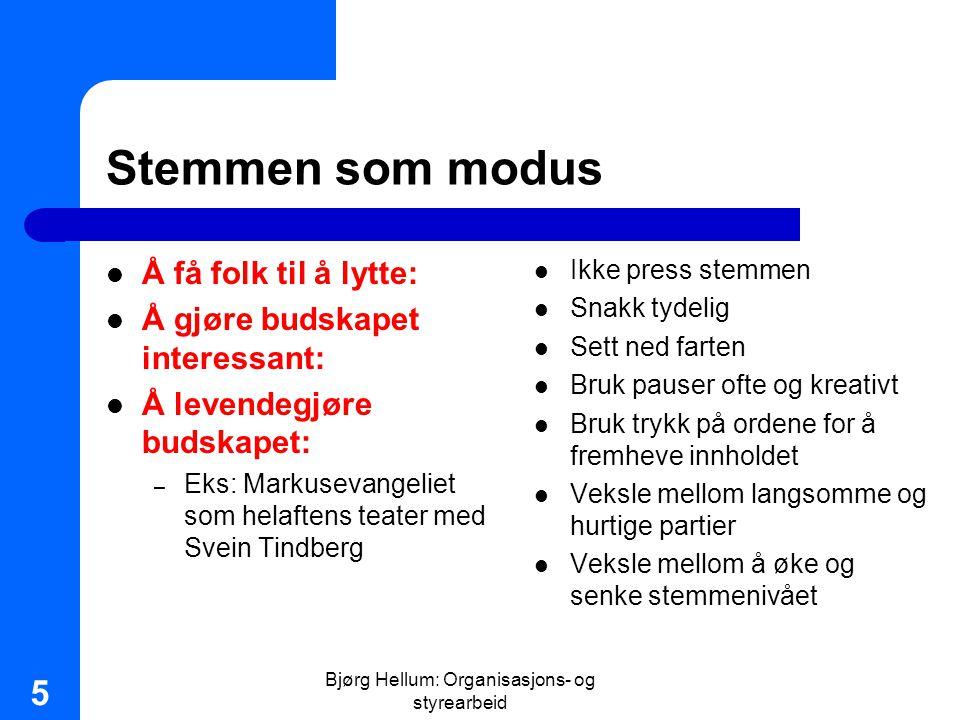 Bjørg Hellum: Organisasjons- og styrearbeid