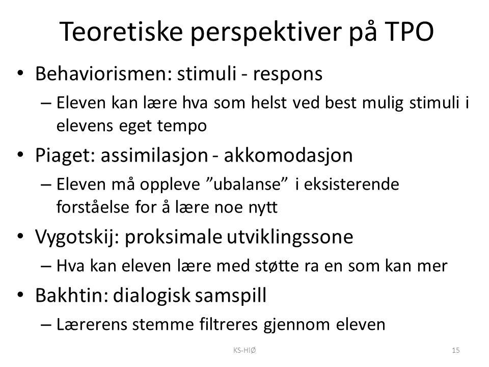 Teoretiske perspektiver på TPO