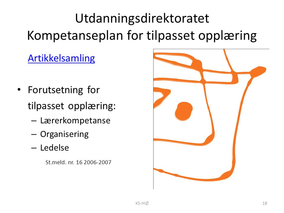 Utdanningsdirektoratet Kompetanseplan for tilpasset opplæring