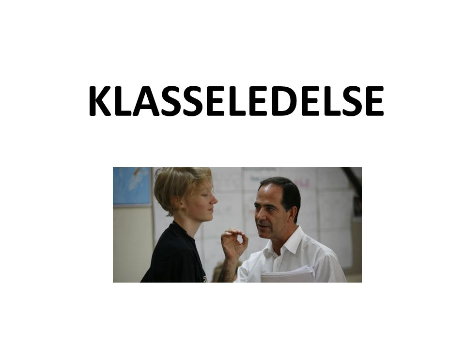KLASSELEDELSE