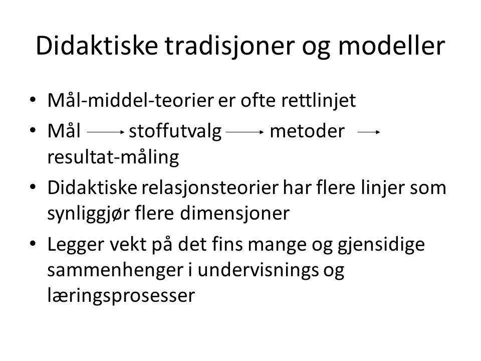 Didaktiske tradisjoner og modeller