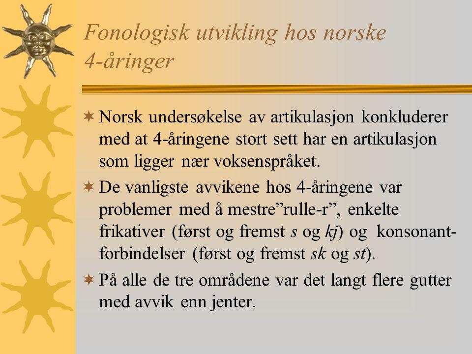 Fonologisk utvikling hos norske 4-åringer